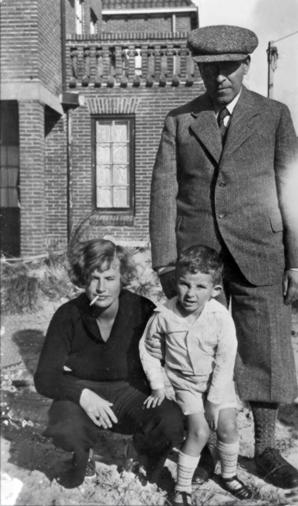Clara Egging en Jacques Bloem met Wim Bloem